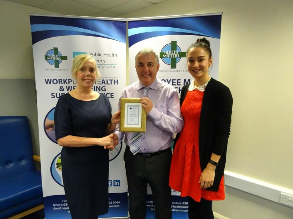 Felix O'Hare & Co Ltd receives Health and Wellbeing in the workplace award
